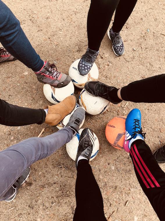 Mädchen-Fußballgruppe