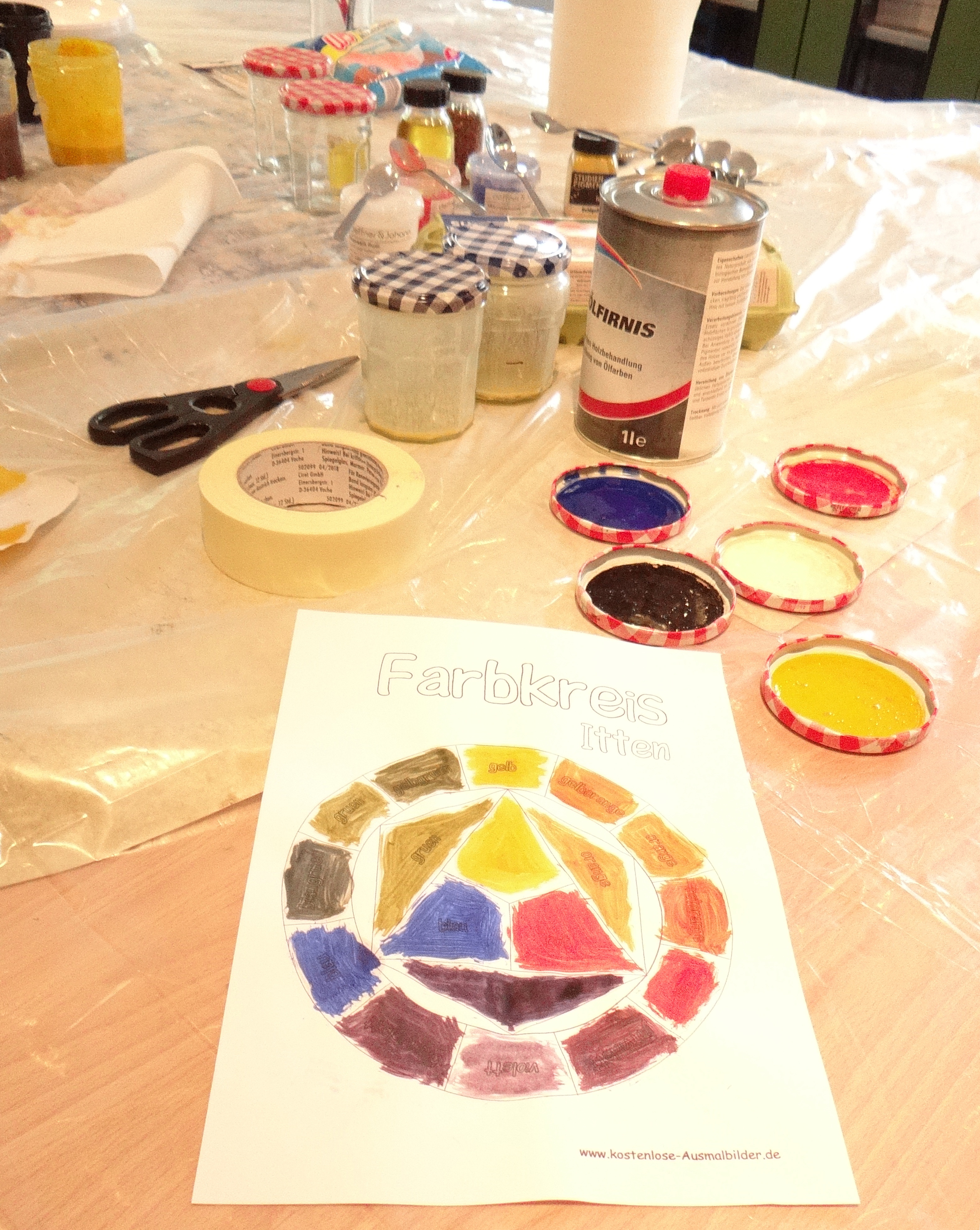 Ferienworkshop: Die Welt ist bunt - Farben aus Öl