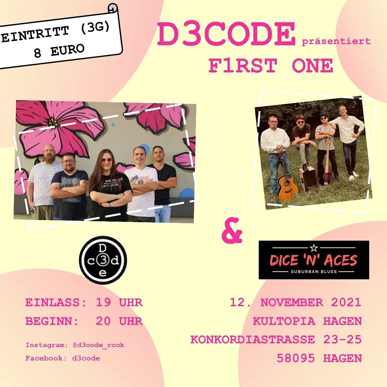 D3CODE präsentiert F1RST ONE & DICE 'N' ACES